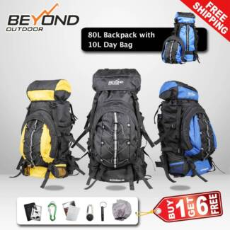 80L Backpack with day bag Camping Hiking Travel Backpack RUCKSACK Dandenong South Greater Dandenong Preview