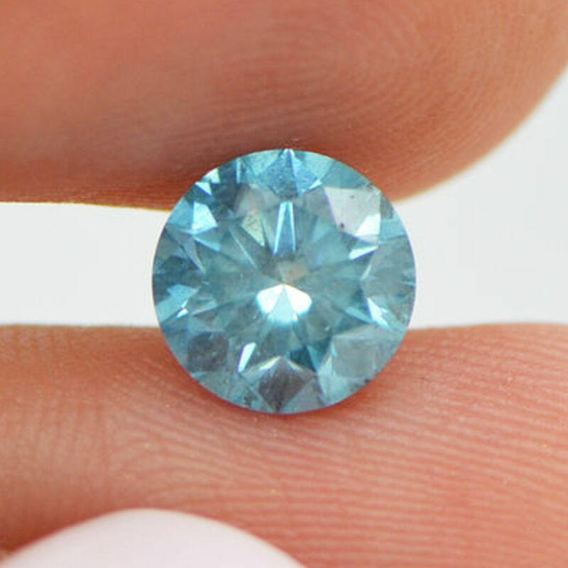 Loose Blue Diamond 1.55 Carat Round Shaped Fancy Color Si2 Real Enhanced Certify