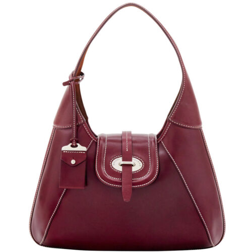 Dooney & Bourke Florentine Toscana Front Stitch Hobo Bag Bordeaux $428