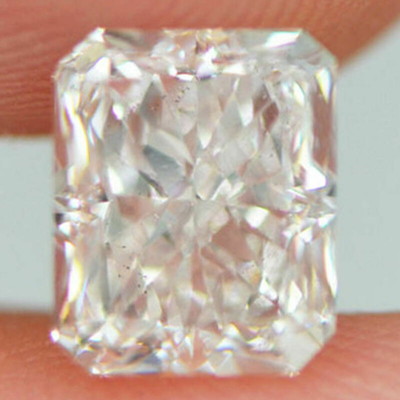 Radiant Cut Diamond Real Loose White Natural 1.90 Carat D/vs2 Certified Enhanced