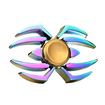 Rainbow Spider Fidget Spinner - Metal Anxiety Relief Hand Finger Toy Spinners