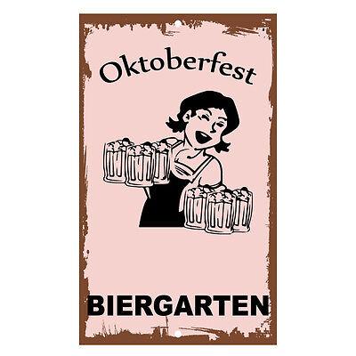 Oktoberfest Biergarten Novelty Funny Metal Sign 8 in x 12 in