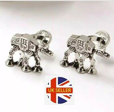NEW Cufflinks Star Wars 7 AT-AT Terrain Armoured Transport Cuff Links 🇬🇧