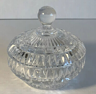 Vintage Etched Crystal Small Covered Candy Dish Or Nut Dish Vintage Etched Crystal