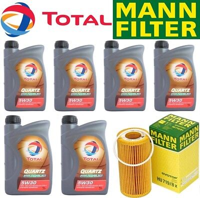 Oil Change Kit w/Total 9000 Future NCF 5W-30+MANN HU719/8x Filter VOLVO 04-16