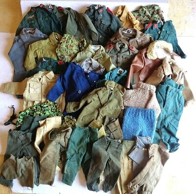Vintage Action Man Mixed Lot Uniform Tops and Trousers.