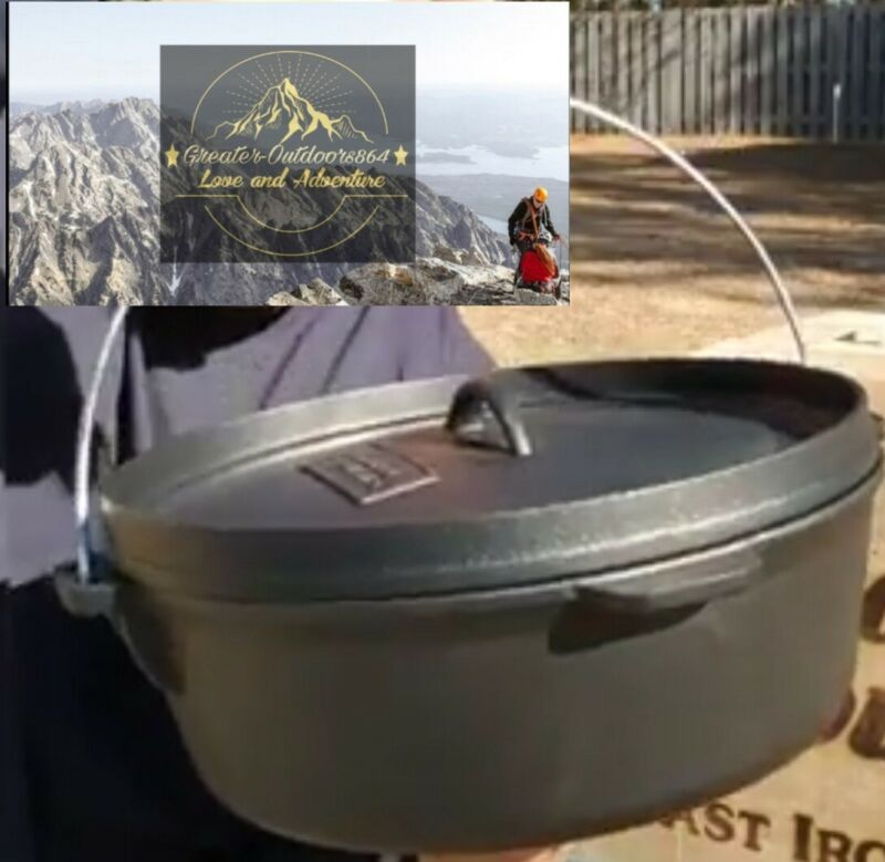 """Cast Iron  Dutch Oven 10""""  Gourmet Pre-Seasoned and ready to GO! FREE SHIPPING"""