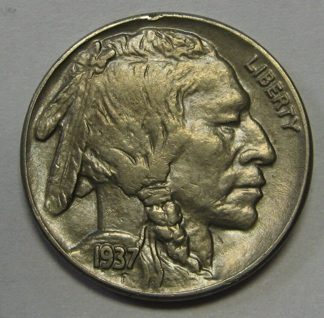1937 Buffalo Nickel Grading BU Nice Uncleaned Coin Priced Right  r35