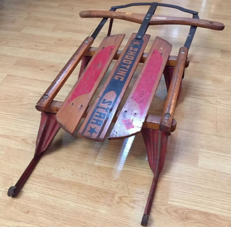 1940's-1950's Shooting Star Antique Sled Very Good Condition