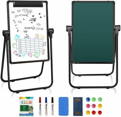 Kids Easel Double-sided Whiteboard Chalkboard Standing Writing Drawing Xmas Gift