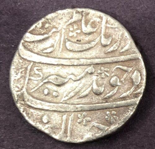 India - Mughal, Aurangzeb Alamgir, Silver Rupee, KM# 300, XF, 11.43g