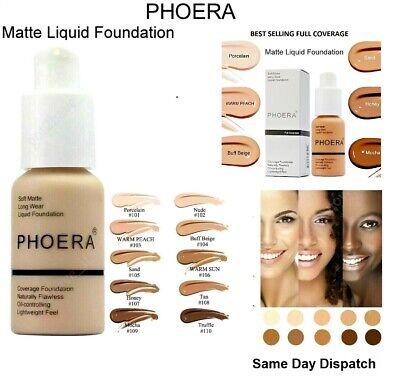 PHOERA® Foundation Concealer Full Coverage Makeup Matte Brighten long lasting UK