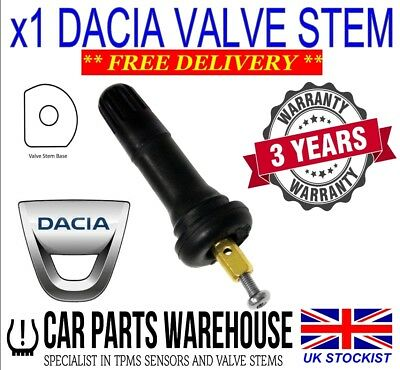 Dacia Dokker, Dokker Stepway TPMS Valve Stem Replacement.  Rubber Valve Stem for sale  Beith