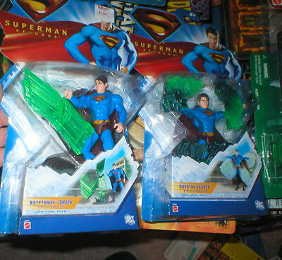 SUPERMAN RETURNS KRYPTONITE SMASH AND CRYSTAL ESCAPE SUPERMAN, BOTH UNOPEN
