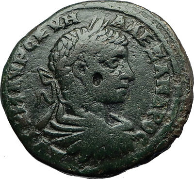 SEVERUS ALEXANDER Authentic Ancient Marcianopolis Roman Coin w Dikaiosyne i70804