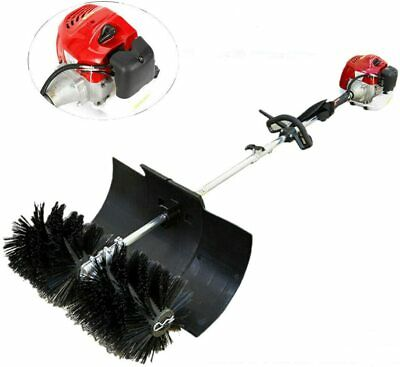 52cc Gas Power Sweeper Hand Held Broom Cleaning Driveway Turf Grass 1700w 2.3hp