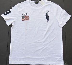Ralph Lauren City Logo USA White Big Pony Shirts