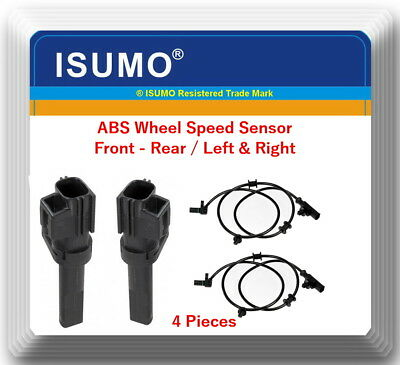 4 ABS Wheel Speed Sensor Front - Rear L & R Fits:Dodge RAM 1500 PICKUP 2009-2012