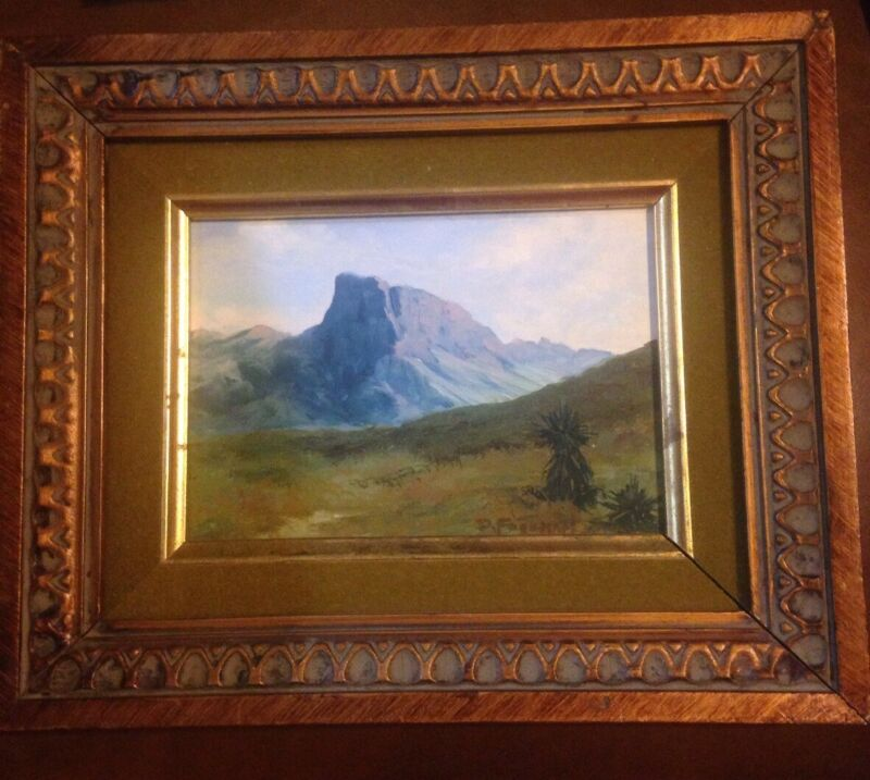 Philmont Tooth Of Time Southwestern Landscape Painting On Board