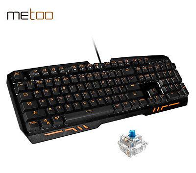 Metoo Z10 Mechanical Gamer Gaming PC Keyboard 104 Keys Blue