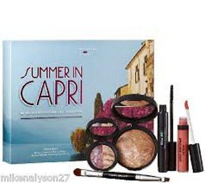 Laura Geller Summer in Capri 5 pc Set Bronzer Mascara Eyeshadow Gloss Brush BNIB