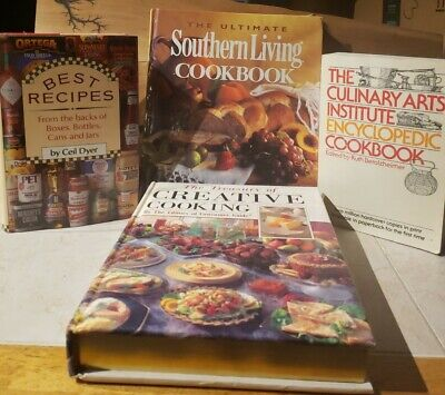 Vintage cookbook lot southern cooking, creative cooking, best recipes,