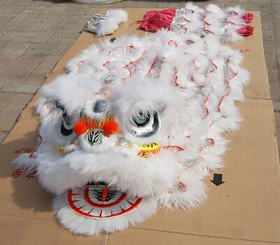 Lion Costume For Adults (New Lion Dance Mascot Costume Wool Southern Lion Chinese Folk Art For Two)