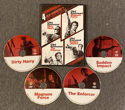 Dirty Harry, Magnum Force, The Enforcer, Sudden Impact (DVD, 4-Film Set)