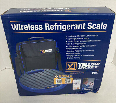 Yellow Jacket68864 Wireless Refrigerant Charging Scales 220 Lb
