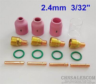 16 Pcs Tig Welding Gas Lens Ceramic Nozzle Pyrex Cup Kit Wp-92025 332