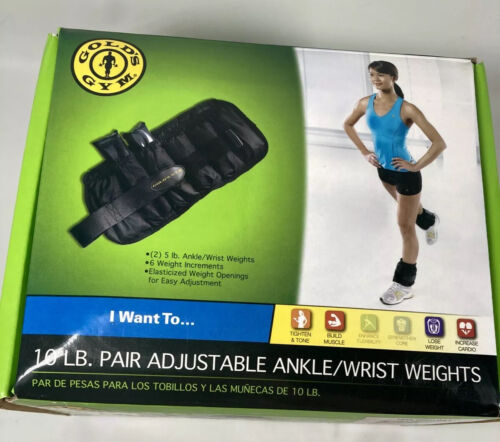 Gold's Gym 10-lb. Pair Adjustable Ankle Weights