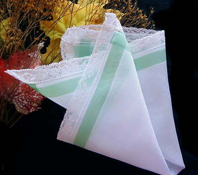 Носовой платок Vintage Linen Hankie From