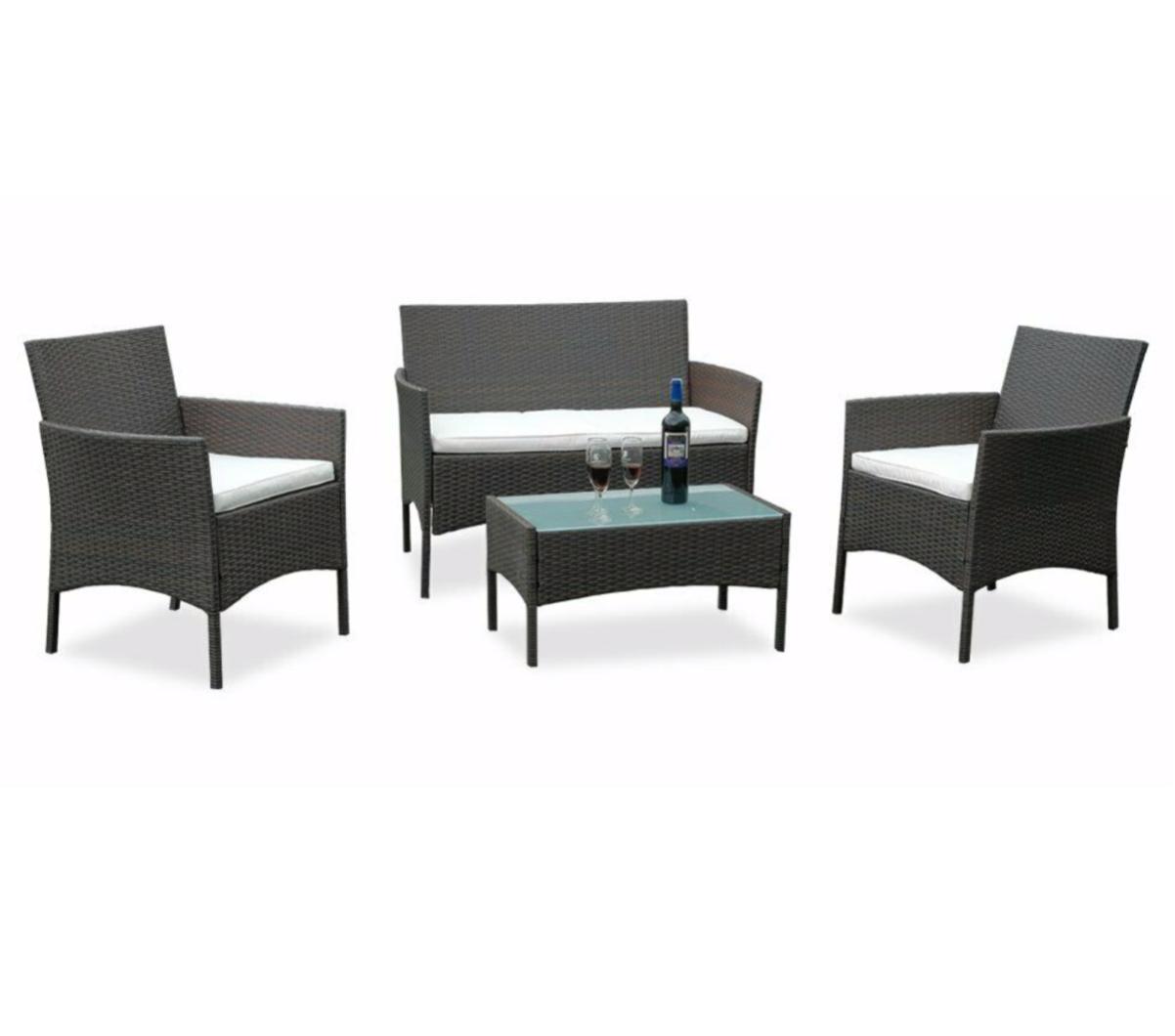 AVOXY Sitzgruppe Gartenmöbel Set Premium Lounge Sofa Tisch mit Auflagen Günstig