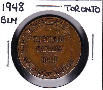1948 BLM Toronto Canadian International Trade Fair Medal/Token