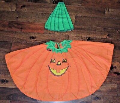 VTG Kids Halloween Costume Handmade Pumkin Jack-a-lantern Cute Baby Toddler USA