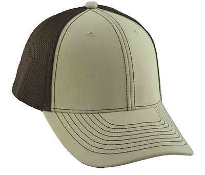 G Men's 6 Panel Brushed Cotton Fitted Mesh Back Flex Cap Panel Brushed Cotton Mesh Cap