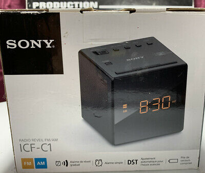 Brand New Sony ICF-C1 AM/FM Alarm Clock Radio in Black