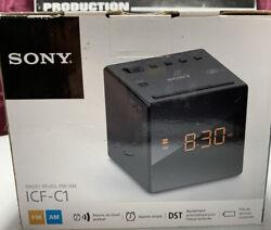 Brand New Sony ICF-C1 AM/FM Alarm Clock Radio in Black
