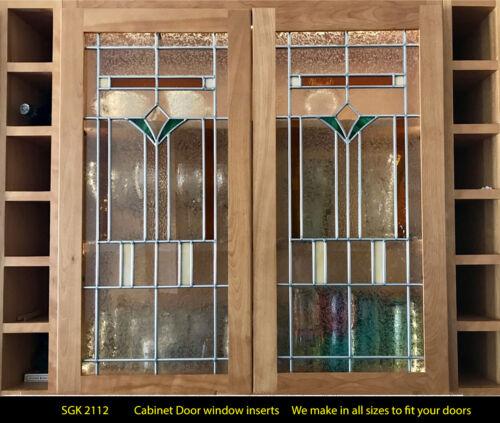Kitchen Cabinet Door Insert stained glass Design SGK2112  WoW