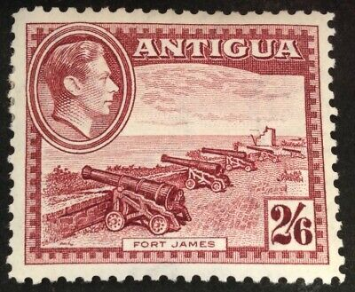 Antigua 1938 2/6 shilling brown purple stamp mint hinged
