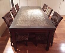Natural wicker Rattan (water hyacinth) dining set Meadowbank Ryde Area Preview