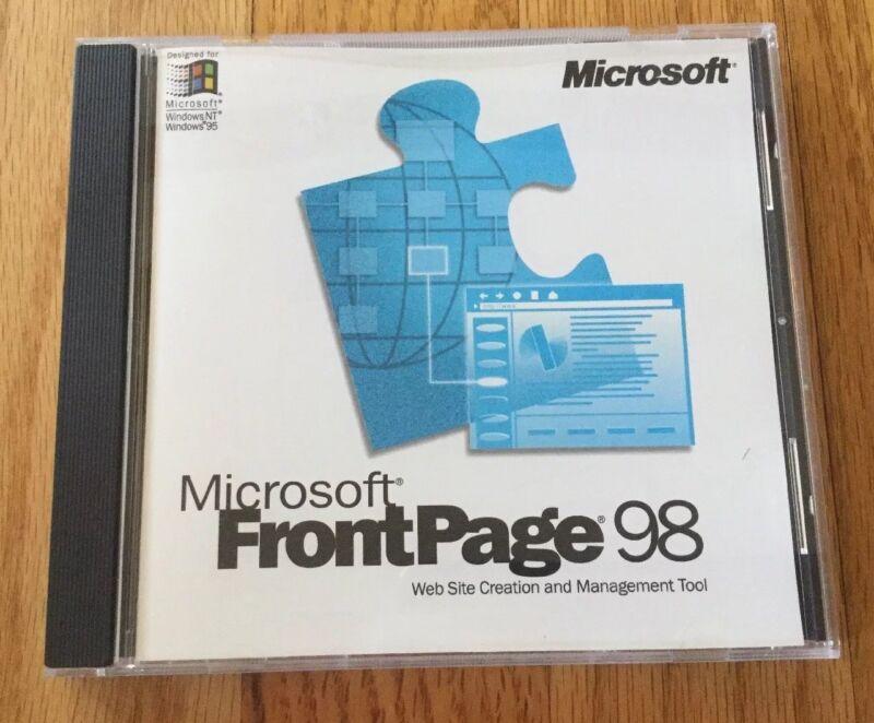 Microsoft Frontpage 98 w/ Product Key