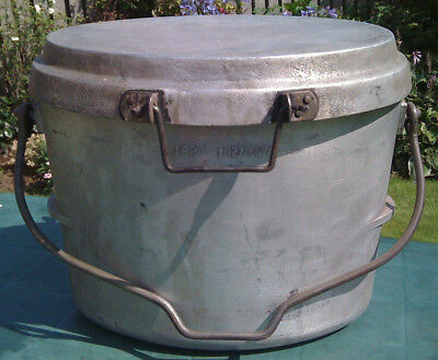 British Army Aluminium Oval 13 Litre / 3 Gallon Dixie Cooking Pot with Lid Gr - Aluminum Oval Cooking Pot