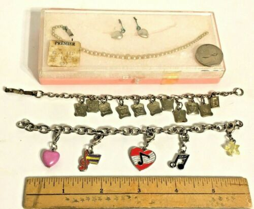 Childrens Jewelry Bracelets 10 Commandment Music Pearl Necklace Earrings Vintage