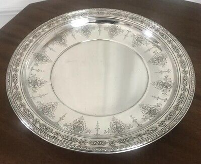"Towle Sterling Louis XIV Centerpiece Tray Plate Buffet Bowl, 14"" Diam, 1919 6617"