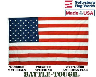 - Battle Tough American Flag All-Weather Nylon U.S. Made by Gettysburg Flag Works