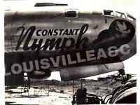 """WWII USAAF 11X14 PHOTO OF B-29 BOMBER 330TH BG PACIFIC /""""JACKPOT/"""" NOSE ART LOOK"""