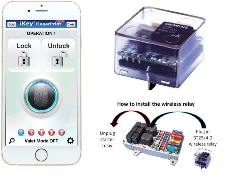 Car alarm immobilizer/ car security/ Mobile fingerprint immobilizer (#BT25HD4.0)