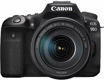 Canon 90D Digital SLR Camera with 18-135 is USM Lens (International Model)