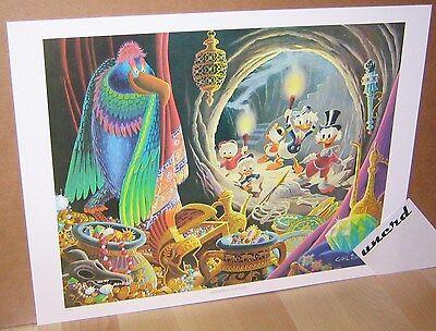 Carl Barks Kunstdruck: Dangerous Discovery - Scrooge + Donald Duck Art Print